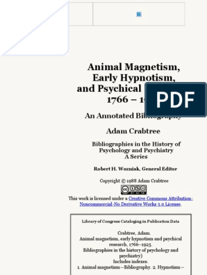 Animal Magnetism Early Hypnotism And Psychical Research