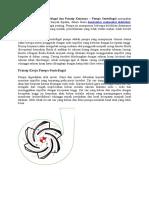 Pengertian Pompa Sentrifugal Dan Prinsip Kerjanya