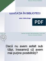 Educatia in Biblioteci