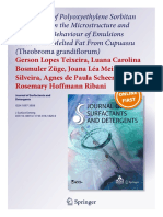 The Impact of Polyoxyethylene Sorbitan Surfactants in the Microstructure and Rheological Behaviour of Emulsions Made With Melted Fat From Cupuassu (Theobroma grandiflorum)