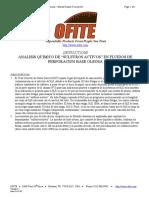 Analisis de Sulfuros Lodo Base Aceite
