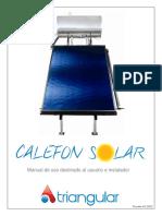 Manual Calefon Solar