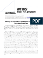 Barclay and Oaks Push for Legislation Assisting Lakeshore Residents