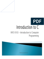 Introduction to C-2017