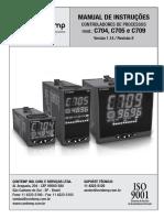 Manual Controlador de Temperatura C700
