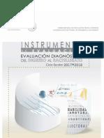 Simulador  Instrumento de Práctica Evaluación Diagnóstica 2017-2018