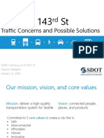 SDOT North 143rd Street CONCERNS 2017 Power Point