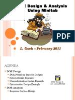 5)  DOE Design and Analysis using Minitab.ppt