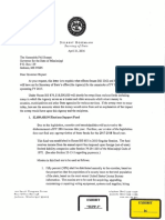 Special funds letter to Gov. Phil Bryant