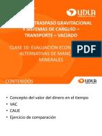 Clase 10 Evaluación Económica de Alternativas de Manejo de Minerales