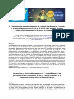 A Contabilidade Como Instrumento de Controle Das Finanças Pessoais
