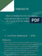 Unidad IV Licencia Ambiental