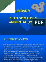 Unidad v Plan de Manejo Ambiental (PMA)