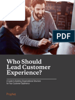 Prophet Who Should Lead Customer Experience