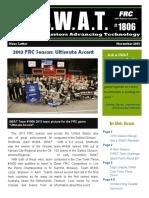 S.W.A.T. Nov 2013 Newsletter
