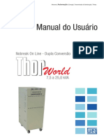 WEG Nobreak Thor World 7 a 25 Manual Do Usuario 00 Manual Portugues Br