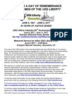 2017 USS Liberty 50th Reunion Flyer