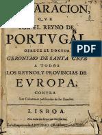 Francisco Manuel de Melo - Contra as calúnicas publicadas nos  emulos