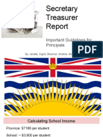secretary treasurer report