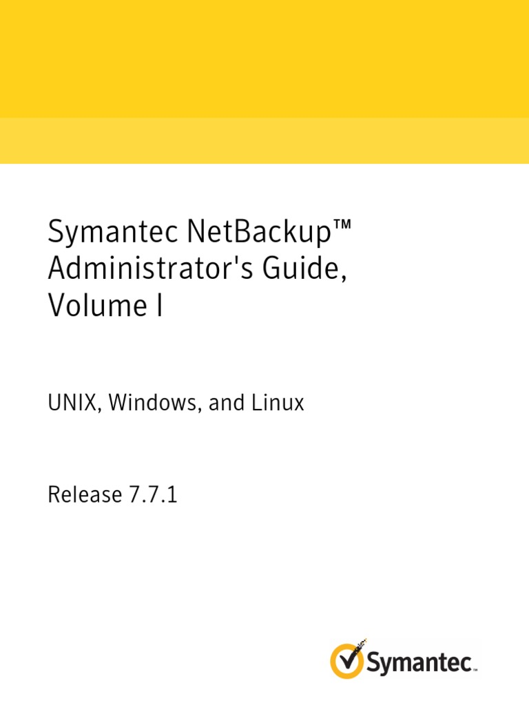 Netbackup771 Adminguidei Server Pdf Technical Support Command