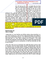Acid Test to Find a Promise From God - Deuteronomy 18;21-22 Bible