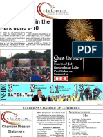 May 2017 Cleburne Chamber of Commerce newsletter