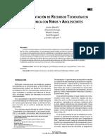 articulo - 2009 - Recursos tecnologicos en clinica   con adolescentes y niños - perspectiva TCC-.pdf