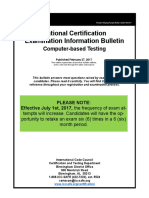 National Certification Examination Information Bulletin