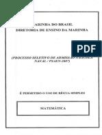 En 2007 Escola Naval Aspirante Matematica