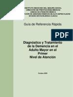 Diagnostico y Tratamiento de La Demencia