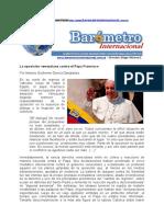 Por Antonio Guillermo García Danglades La Oposición Venezolana Contra El Papa Francisco