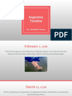 argentina timeline - alexandra corona