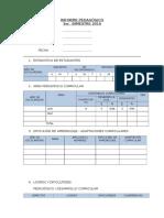 Formato Informe Pedagôgico 3er Bimestre Uypaca
