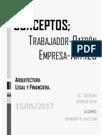 ARQUITECTURA LEGAL Y FINANCIERA