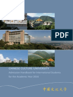 Admission Handbook for International Student for the Academic Year 2016