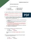 Cumulative Exam Review I