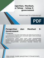 Pengertian, Manfaat dan Tahap-Tahap E-Government