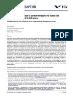 ARTIGO TEO EMP Interdisciplinaridade e Complexidade No Cur So de Graduaáao Em Administraáao