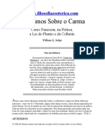 ( Esoterismo) - William Q Judge - Aforismos Sobre O Carma