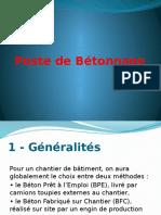Poste de Bétonnage