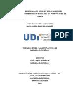 DISEÑO E IMPLEMENTACIÓN DE UN SISTEMA DE MONITOREO INTELIGENTE CON SENSORES Y TECNOLOGÍA NFC PARA CULTIVOS   DE TOMATE