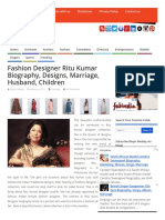 0afe05a1b Fashion Designer Ritu Kumar Biography, Designs, Marriage, Husband, Children  _ Youth Developers