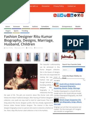 Fashion Designer Ritu Kumar Biography Designs Marriage Husband Children Youth Developers Fashion Design