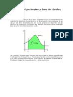 Calculo Del Perímetro y Área de Túneles