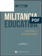 Vexler Idel Militancia Educativa
