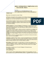 Corrientes Pedagógicas Contemporáneas e Implicaciones en La Tarea Docente