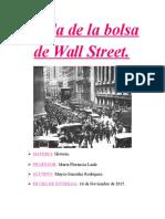 Caída de La Bolsa de Wall Street