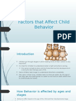 factors that affect child behavior