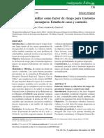 Violencia Intrafamiliar Como Factor de Riesgo Para Trastorno Depresivo Mayor en Mujeres - Estudio de Casos y Controles