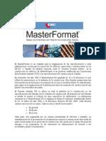 Tarea 1 - MasterFormat-